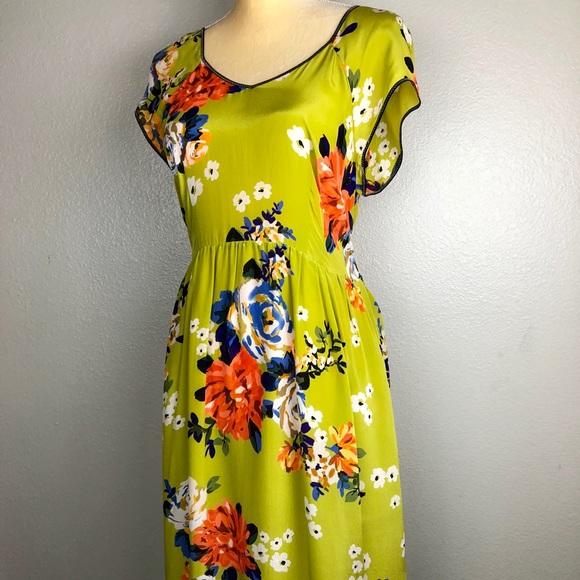 9e4b0b8a67294 Anthropologie Dresses   Skirts - Anthro Moulinette Soeurs Silk Floral Tie  Dress 12
